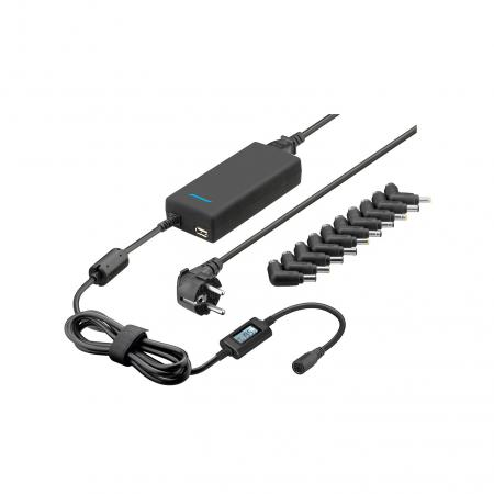 Laptop adapter - Goobay - 8000 mA - Zwart