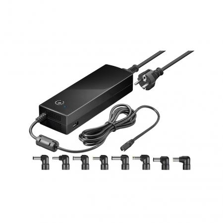 Laptop adapter - Goobay - 8500 mA - Zwart
