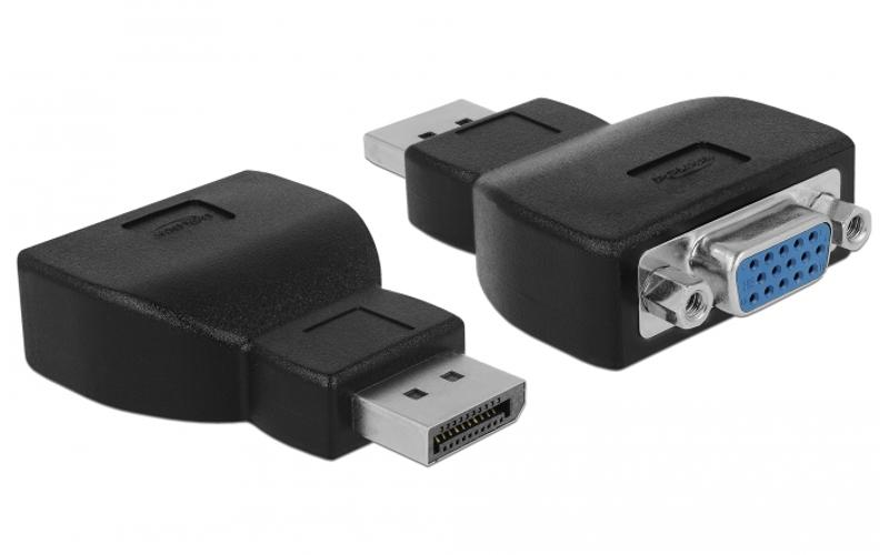 Displayport adapter - Delock - Zwart