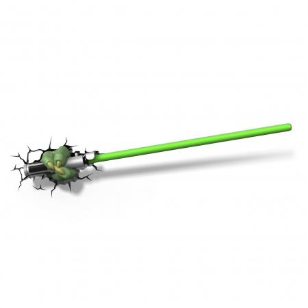 Nachtlamp - Lightsaber Yoda - LED - Batterij