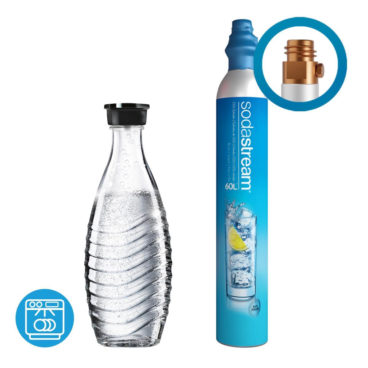 Afbeelding van SodaStream CO2 cilinder / Flessen Reservepack Glazen Karaf